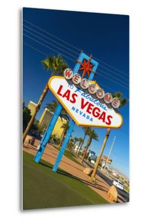 Welcome to Fabulous Las Vegas Sign, Las Vegas, Nevada, United States of America, North America-Alan Copson-Metal Print