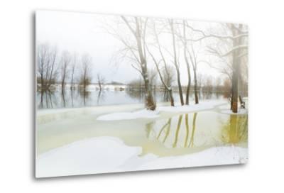 Winter River- Andrejkoslav-Metal Print