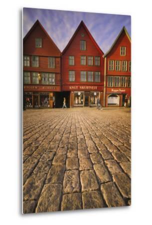 Row Houses in Bryggen-Jon Hicks-Metal Print