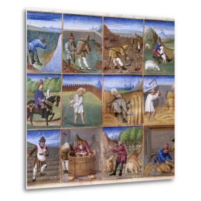 Various Agricultural Works - by Colin D'amiens--Metal Print