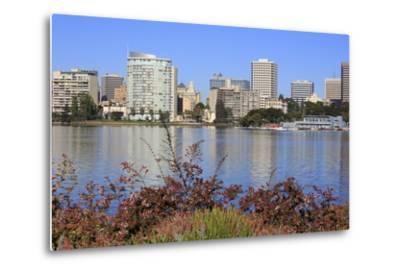 Oakland Skyline and Lake Merritt, Oakland, California, United States of America, North America-Richard Cummins-Metal Print