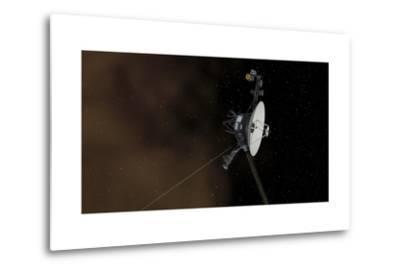 Voyager 1 Spacecraft Entering Interstellar Space--Metal Print