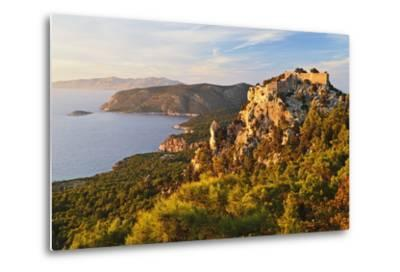 Monolithos Castle and Aegean Sea, Rhodes, Dodecanese, Greek Islands, Greece, Europe-Jochen Schlenker-Metal Print