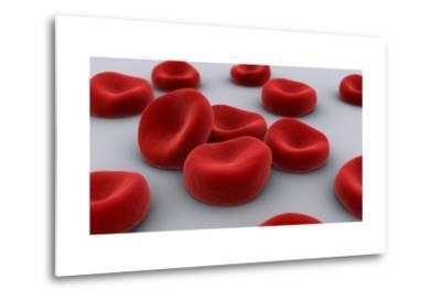 Conceptual Image of Red Blood Cells--Metal Print