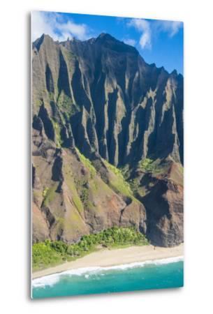 Aerial of the Rugged Napali Coast, Kauai, Hawaii, United States of America, Pacific-Michael Runkel-Metal Print