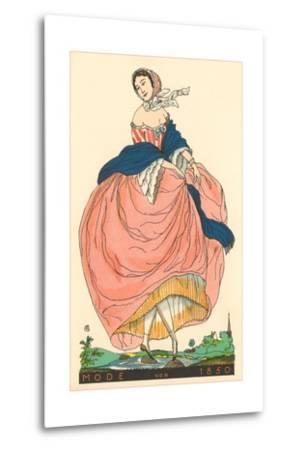 European Women's Fashion, 1850-Found Image Press-Metal Print