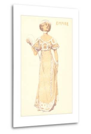 French Women's Fashion, Empire-Found Image Press-Metal Print
