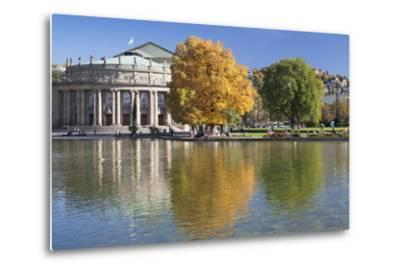 Staatstheater (State Theatre) and Schlosspark in Autumn-Markus Lange-Metal Print