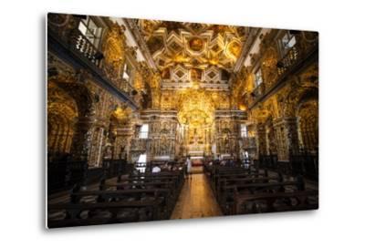 Interior of the Saint Francisco Church in the Pelourinho-Michael Runkel-Metal Print