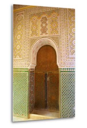 Mosque Entrance, Medina, Meknes, Morocco, North Africa, Africa-Neil Farrin-Metal Print
