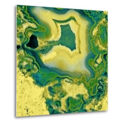 Mineral Rings Geode-GI ArtLab-Metal Print