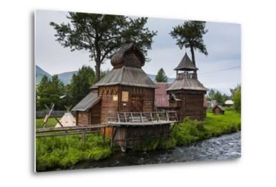 Traditional Rebuilt Houses in the Ewenen Museum in Esso, Kamchatka, Russia, Eurasia-Michael Runkel-Metal Print