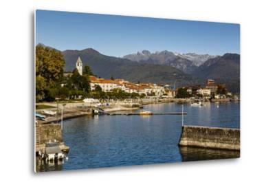 View over Baveno Town, Lake Maggiore, Italian Lakes, Piedmont, Italy, Europe-Yadid Levy-Metal Print