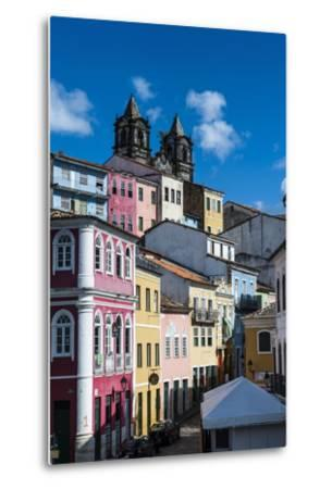 Colonial Architecture in the Pelourinho-Michael Runkel-Metal Print