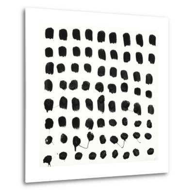 Black and White E-Franka Palek-Metal Print