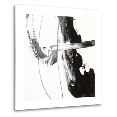 Black and White H-Franka Palek-Metal Print