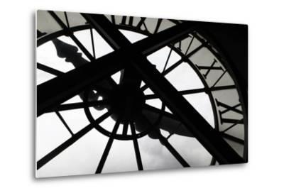 Clock at Musee D'Orsay, Paris, France-Kymri Wilt-Metal Print