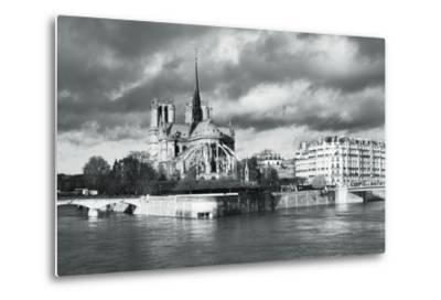Notre Dame Cathedral on the River Seine, Paris, Ile De France, France, Europe-Markus Lange-Metal Print