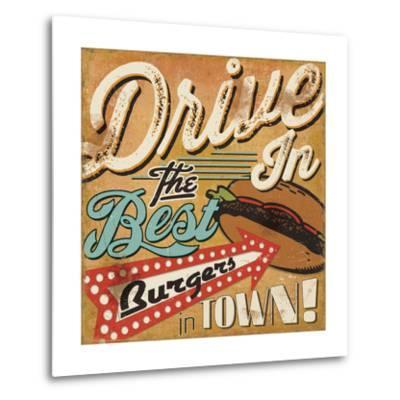Diners and Drive Ins I-Pela Design-Metal Print