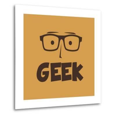 Geek Guy-vector1st-Metal Print
