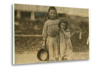 Maud and Grade Daly-Lewis Wickes Hine-Metal Print