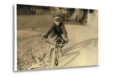 Curtin Hines Aged 14, Western Union Messenger for 6 Months, Houston, Texas, 1913-Lewis Wickes Hine-Metal Print