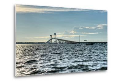 Newport Bridge - Rhode Island-demerzel21-Metal Print