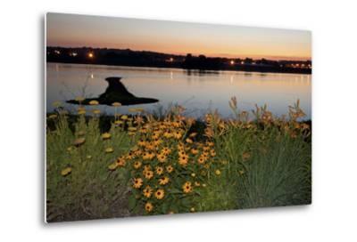 Arrow Island on Mississippi-benkrut-Metal Print