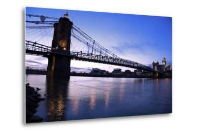 Historic Bridge in Cincinnati-benkrut-Metal Print