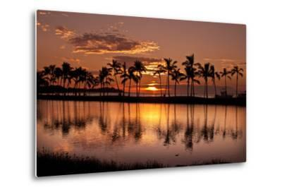 Waikoloa Sunset at Anaeho'omalu Bay-NT Photography-Metal Print