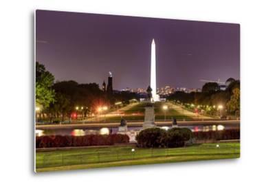 The Mall Monument Us Grant Memorial Evening Stars Washington Dc-BILLPERRY-Metal Print