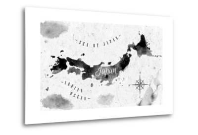 Ink Japan Map-anna42f-Metal Print