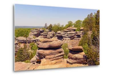 Sandstone Bluffs in the Wilderness-wildnerdpix-Metal Print