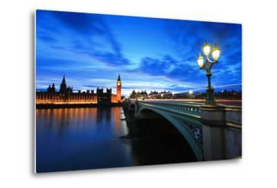 Big Ben London at Night-aslysun-Metal Print