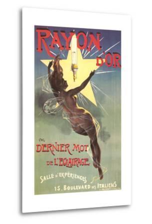 Ad for Rayon D'Or Lighting--Metal Print