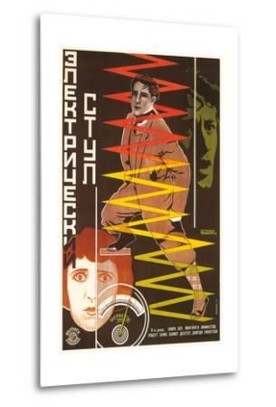 Russian Electric Chair Poster--Metal Print