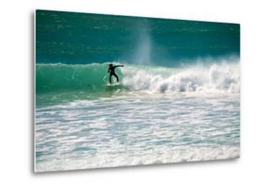A Man Surfing Off the Coast of South Africa-Heather Perry-Metal Print