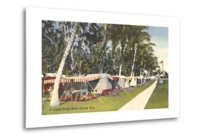 Trailer Campground, Florida--Metal Print