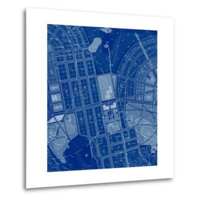 Blue Drawing-Andreyuu-Metal Print