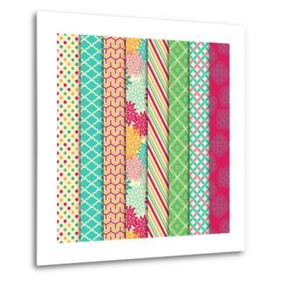 Collection of Bright and Colorful Backgrounds or Digital Papers-Pink Pueblo-Metal Print