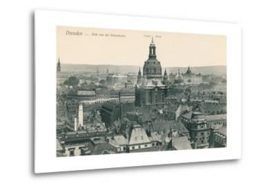 Overview of Old Dresden, Germany--Metal Print