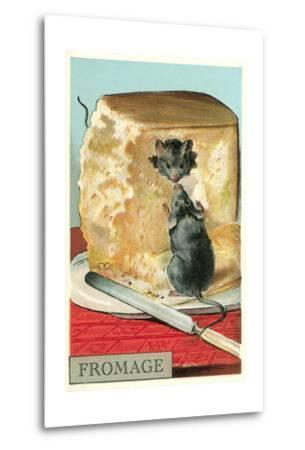 Fromage, Mice in Cheese--Metal Print