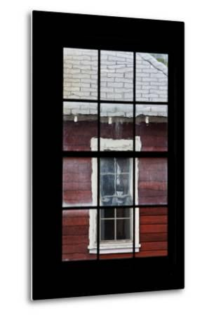 A View Through a Window at the Abandoned Kennecott Copper Mine-Marc Moritsch-Metal Print