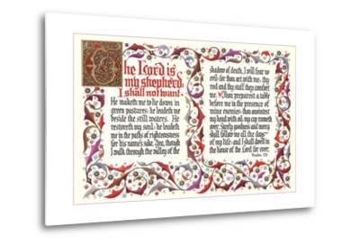 Twenty-Third Psalm--Metal Print