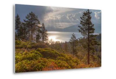 A Storm at Sunrise over Lake Tahoe, California-Greg Winston-Metal Print