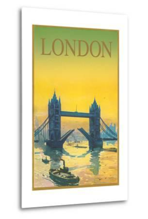 Travel Poster for London--Metal Print