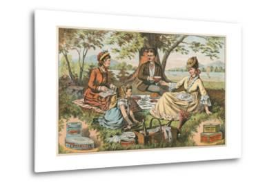 Old Fashioned Picnic--Metal Print