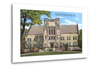 Administration Building, College of Wooster--Metal Print