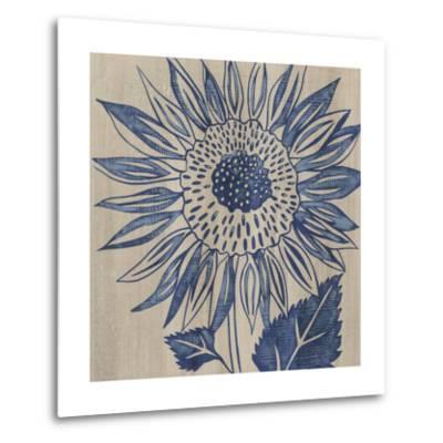 Indigo Sunflower-Chariklia Zarris-Metal Print