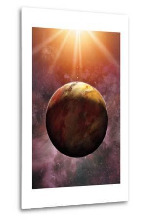 Newly Discovered Planet Gliese 581 E-Dana Berry-Metal Print